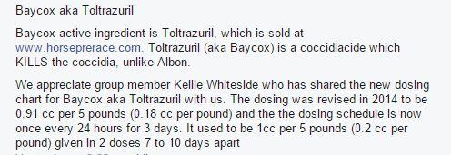 baycox totrazuril dose
